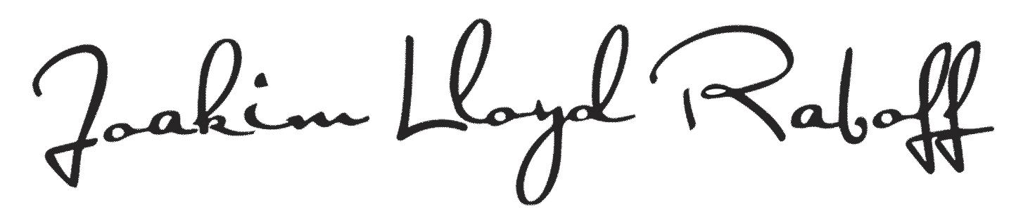 Joakims signature